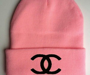 chanel, pink, and hat image