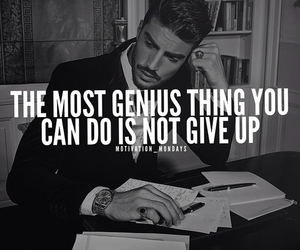 quote, genius, and give image