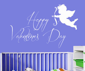cupid, nursery decor, and wall decals image
