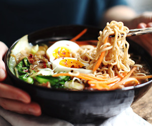 japanese, soup, and noodles image