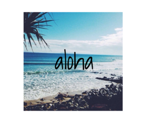 Aloha, beach, and hipster image