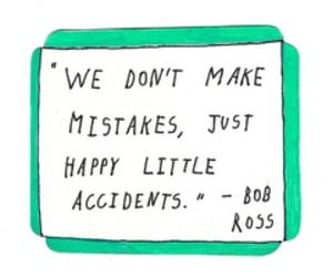 quote, text, and bob ross image