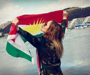 kurdistan and flag image