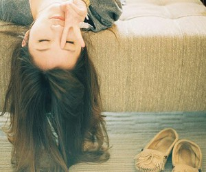 girl, hair, and shoes image