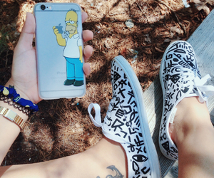 bart, keds, and leaves image