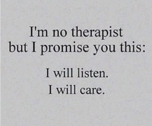 care, listen, and promise image