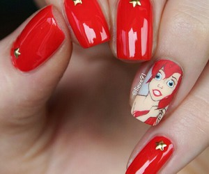 nails, ariel, and red image