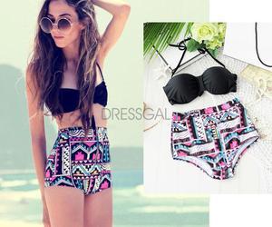 bikini, black, and summer image