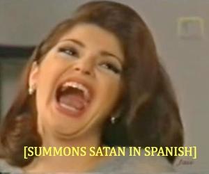 satan, funny, and spanish image