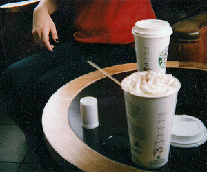starbucks, coffee, and vintage image