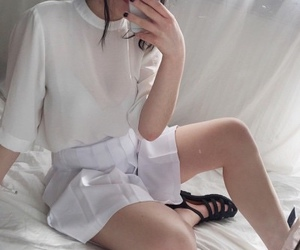 american apparel, white, and skirt image
