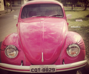 pink, car, and fusca image