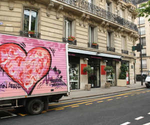 heart, paris, and pink image