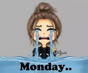 monday, cry, and school image