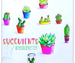 art, artsy, and cactus image