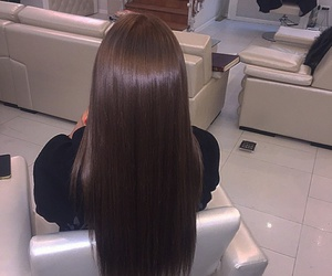 hair, girl, and brown image