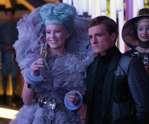 catching fire, peeta mellark, and effie trinket image