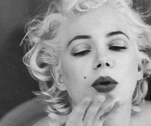 Marilyn Monroe, vintage, and lips image