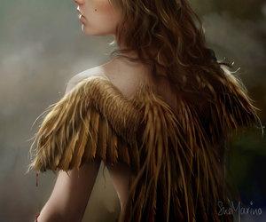 angel, digital, and drawing image