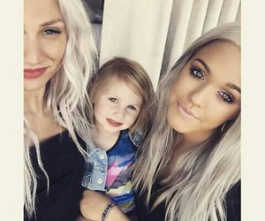 lottie tomlinson, lou teasdale, and baby lux image