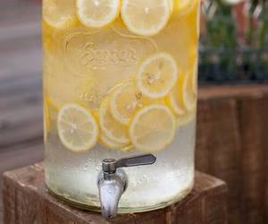 lemon, drink, and lemonade image