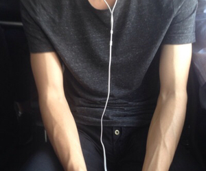 boy, veins, and grunge image