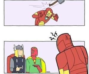 thor, iron man, and Avengers image