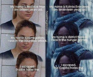 divergent, tris, and katniss image