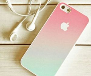 apple, iphone, and turquoise image