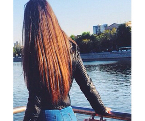 brown, long hair, and girl image