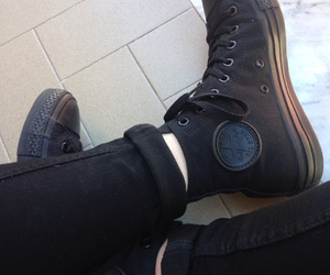 black and converse image