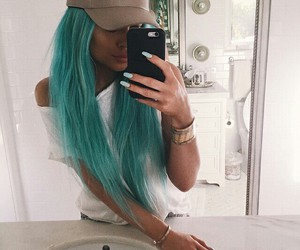 celebrities, hair, and kylie jenner image