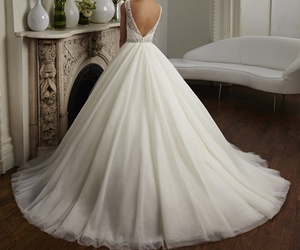 dress, marriage, and wendding image