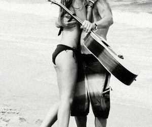 beach, music, and sand image