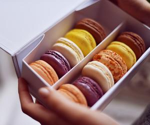 food and macarons image