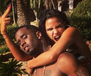 cassie, p diddy, and so cute together image