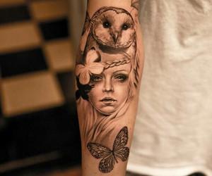 art, owl, and tattoo image