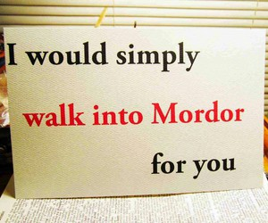 love and mordor image