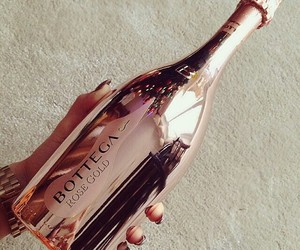 rose gold, drink, and gold image
