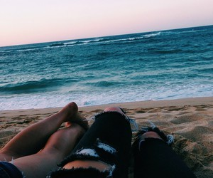 cute couples, Relationship, and sea image
