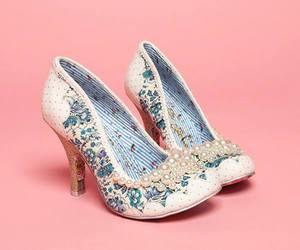 high heels, irregular choice, and pearls image