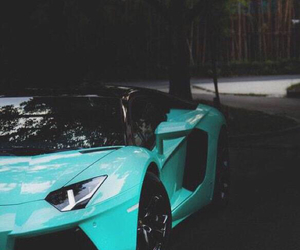 Image de car, Lamborghini, and blue