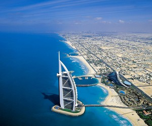 Dubai, summer, and sea image