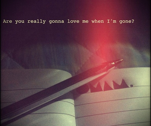 gone, really, and love image