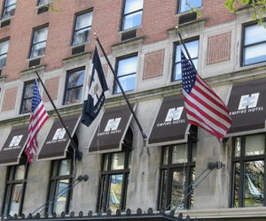 flags, gossip girl, and hotel image