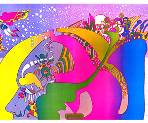 60's, art, and peter max image