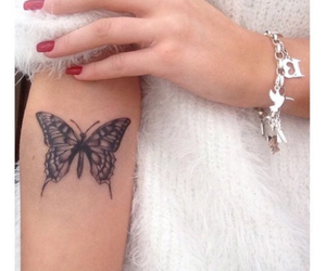 butterfly, tattoo, and small image
