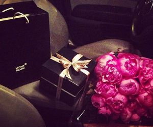 rose, flowers, and gift image