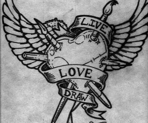 art, wings, and draw image