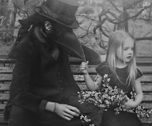 black and white, gothic, and little girl image